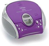 Lenco SCD-24 - Draagbare Radio/CD-speler - Paars/Zilver