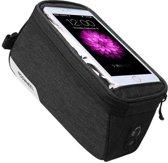 Essential Touchscreen Fietsframe Tas - Grote Enkele Afneembare Frametas - Met Frame Smartphone / iPhone / Samsung Mobiele Telefoon Houder Afneembaar - Waterdicht