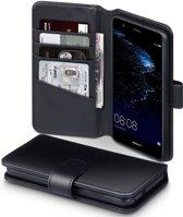 Huawei P10 Lite hoesje - CaseBoutique - Zwart - Leer