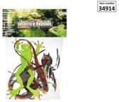 Insecten/reptielen in zak de luxe 6 stuk