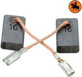 Koolborstelset voor Bosch frees/zaag GWS 14 CI - 5x10x16mm