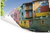Gekleurde huizen in het Argentijnse Buenos Aires Tuinposter 180x120 cm - Tuindoek / Buitencanvas / Schilderijen voor buiten (tuin decoratie) XXL / Groot formaat!
