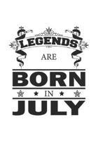 Legends Are Born In July: Notizbuch, Notizheft, Notizblock - Geburtstag Geschenk-Idee f�r Legenden - Karo - A5 - 120 Seiten