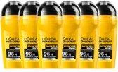 L'Oréal Paris Men Expert Invincible Sport Deodorant – 6 x 50 ml –  Roller - Voordeelverpakking