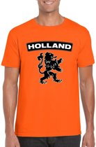 Oranje Holland supporter shirt met zwarte leeuw heren XL