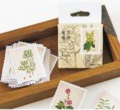 Set met 45 stickers - Flower Stamps