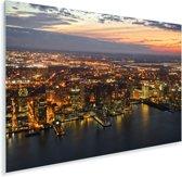 Het stadslandschap van Jersey City in de Verenigde staten Plexiglas 180x120 cm - Foto print op Glas (Plexiglas wanddecoratie) XXL / Groot formaat!
