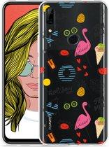 Huawei P Smart Z Hoesje Summer Flamingo