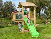 Jungle Gym - Casa Balcony - Houten Speeltoestel - Met Glijbaan - Groen