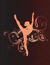 Arabesque Ballet Swirls - Notebook for Dancers