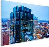 Het verlichte Minneapolis tijdens de avond Plexiglas 180x120 cm - Foto print op Glas (Plexiglas wanddecoratie) XXL / Groot formaat!