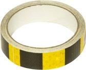 RM Veiligheidstape reflecterende tape Geel/Zwart weerbestendige reflectietape 5 meter x 25 mm Reflector plakband zelfklevend voor fiets of (bedrijfs)auto etc.