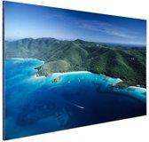 Caribisch eilandkust  Aluminium 30x20 cm - Foto print op Aluminium (metaal wanddecoratie)