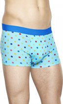 Happy Socks Men's Trunk/Boxershort Dots Licht Blauw, Maat XL