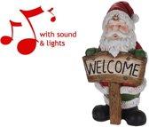 Kerstman XL met Licht en Geluid (72 cm)