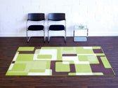 Modern vloerkleed Retro - groen 120x170 cm