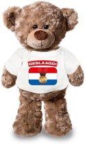 Knuffelbeer Geslaagd! met wit shirtje 24 cm - Eindexamen/afstuderen cadeau