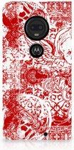 Motorola Moto G7 | G7 Plus Standcase Hoesje Design Angel Skull Red