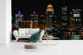 Fotobehang vinyl - Het nachtleven van Louisville in de staat Kentucky breedte 465 cm x hoogte 260 cm - Foto print op behang (in 7 formaten beschikbaar)