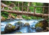 Canvas schilderij Natuur | Groen, Grijs | 120x70cm 1Luik