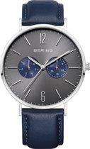 BERING 14240-803 - Horloge - Leer - Blauw - 40 mm