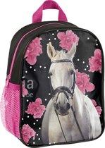 Animal Pictures Paard Flowers - Peuter-/Kleuterrugzakje - 28 cm - Zwart, Roze