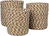 HSM Collection Mandenset - raffia/zeegras - naturel/wit - set van 3