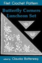 Butterfly Corners Luncheon Set Filet Crochet Pattern