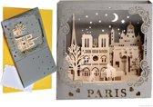Popcards popupkaarten - Eiffeltoren, Montmarte, Sacré Coeur, Notre Dame, Paris je t'aime Parijs pop-up kaart