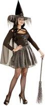 Zilverkleurig heks kostuum voor dames Halloween  - Verkleedkleding - Large
