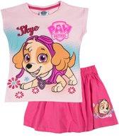 Paw-Patrol-T-shirt-met-rokje-roze-maat-128