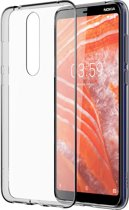Nokia back case - transparant - voor Nokia 3.1 Plus