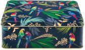 Bewaarblik Papegaai - Donkerblauw - Rechthoek - Blik - 19,5 x 15,4 x 7,5 cm - Sara Miller London