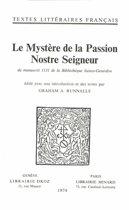 Le Mystère de la Passion Nostre Seigneur
