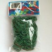 Rainbow Loom Elastiekjes - Donker Groen - Met 24 Clips