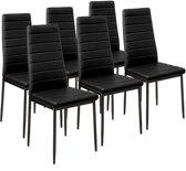 Tectake eetkamerstoelen - zwart - set van 6