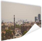 Columbus standbeeld in Barcelona Poster 120x80 cm - Foto print op Poster (wanddecoratie)