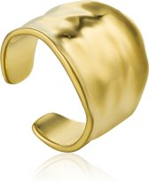 Ania Haie AH R017-03G Ring Zilver geelgoudverguld