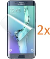 2x Screenprotector voor Samsung Galaxy S6 Edge+ / S6 Edge Plus - Edged (3D) Glas PET Folie Screenprotector Transparant 0.2mm 9H (Full Screen Protector) - (Two Pack / Duo-pack)
