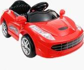 Elektrische Ferrari Spider look rood + afstandsbediening & LED