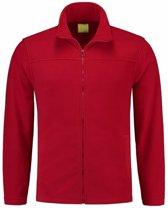 Rood fleece vest met rits voor volwassenen 2XL (44/56)