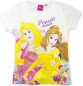 Disney Prinsessen t-shirt wit maat 98