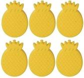 6x Koelelementen ananas vorm - Koelblokken ananasvorm