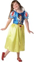 Prinsessenjurk Classic Sneeuwwitje - Carnavalskleding - Maat L - 7-8 jaar