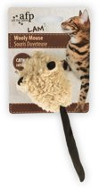 1 Stuks AFP Lambswool-Wooly Mouse with mouse sound Catnip