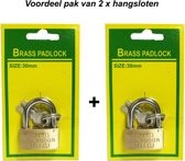 Hangslot 30MM |koffer slot |Bagageslot  voordeelpak 2 stuks