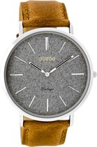 OOZOO Vintage Zilver Horloge  (44 mm) - Bruin