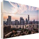 Skyline van Beijing Vurenhout met planken 60x40 cm - Foto print op Hout (Wanddecoratie)