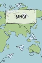 Samoa: Liniertes Reisetagebuch Notizbuch oder Reise Notizheft liniert - Reisen Journal f�r M�nner und Frauen mit Linien