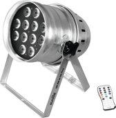 EUROLITE LED PAR-64 HCL 12x10W vloer zilver - LED Par